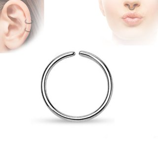 Piercing Ring - Continuous Ring - Silver
