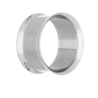 Double Flare Flesh Tunnel - Steel - Silver