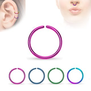 Piercing Ring - Continuous Ring - Colorful