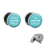 Picture Fake Plug Set - Hier rein, Da raus - Blue