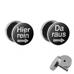 Picture Fake Plug Set - Hier rein, Da raus - Black