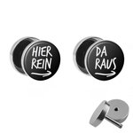 Picture Fake Plug Set - Hier rein, Da raus - Black -...