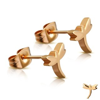 Ear Stud - Rose Gold - Dragonfly