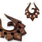 Wood Earring - Brown - Ornament
