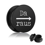Picture Ear Plug - Screw - Da raus - Black