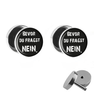 Picture Fake Plug Set - Bevor du fragst NEIN. - Black-White