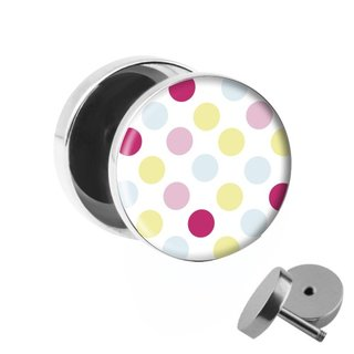 Picture Fake Plug - Polka Dots - Colorful