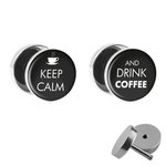 Picture Fake Plug Set - Keep Calm and drink Coffee