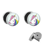 Picture Fake Plug Set - Spewing Unicorn