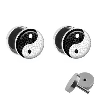 Picture Fake Plug Set - Yin Yang - Ornaments
