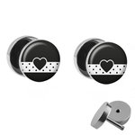 Picture Fake Plug Set - Heart and Trim