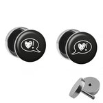 Picture Fake Plug Set - Speech Bubble Heart and !