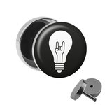 Picture Fake Plug - Lightbulb with RocknRoll Hand
