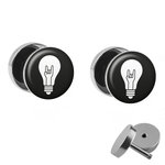 Picture Fake Plug Set - Lightbulb with RocknRoll Hand