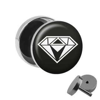 Picture Fake Plug - Diamond - White