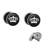 Picture Fake Plug Set - Crown - White
