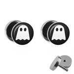 Picture Fake Plug Set - Ghost - White