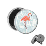 Picture Fake Plug - Flamingo - Palm Branch
