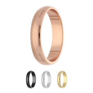 Ring - 925 Silver - Shiny - 4 Width - Rose Gold