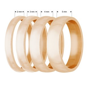 Ring - Stainless Steel - 4 Width - Matte - Rose Gold