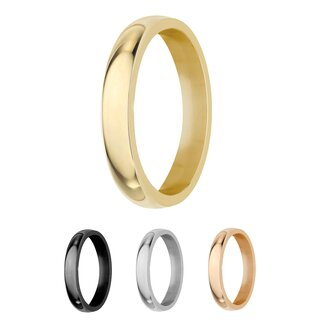 Ring - Stainless Steel - 4 Width - Shiny - Gold