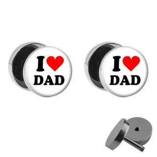 Picture Fake Plug Set - I love Dad