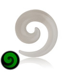 Glow in the dark - Spiral Taper - Clear