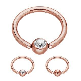 2 x 18mm Blackline Ball Closure Ring with Green Titanium ball