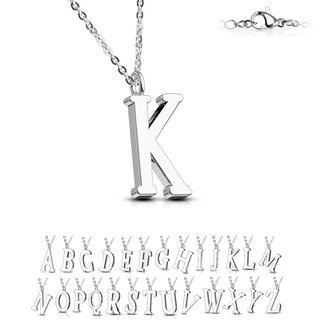 Necklace - Silver - Letter