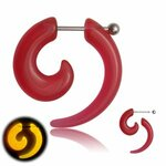 Glow in the dark - Fake Expander - Spiral - Red