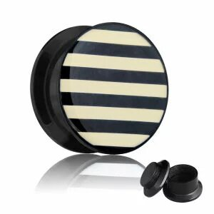 Picture Ear Plug - Screw - Stripes