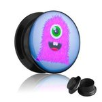 Picture Ear Plug - Screw - Monster