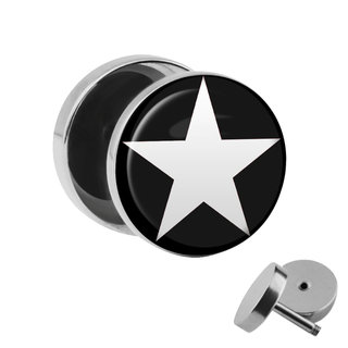 Picture Fake Plug - Star - White