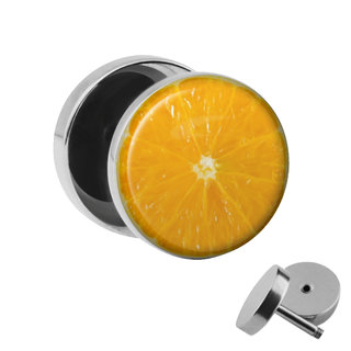 Picture Fake Plug - Orange
