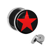 Picture Fake Plug - Star - Red