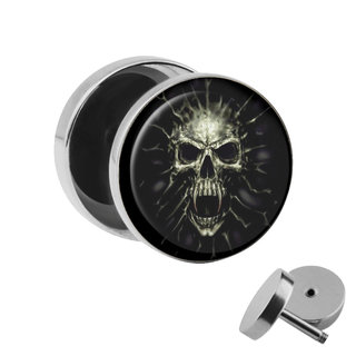Picture Fake Plug - Screaming Skull