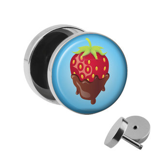 Picture Fake Plug - Chocolate Strawberry
