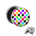 Picture Fake Plug - Chessboard - Colorful