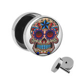 Picture Fake Plug - Skull - Colorful