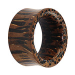 Wood Flesh Tunnel - Palm Wood - Dark