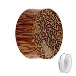 Wood Ear Plug - Palm Wood - Light