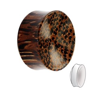 Wood Ear Plug - Palm Wood - Dark