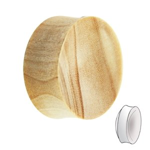 Wood Ear Plug - Crocodile Wood