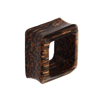 Flesh Tunnel - Square - Palm Wood - Dark
