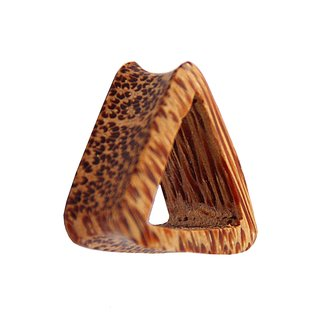 Wood Flesh Tunnel - Triangle - Palm Wood - Light