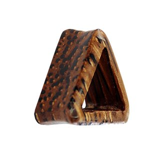 Wood Flesh Tunnel - Triangle - Palm Wood - Dark