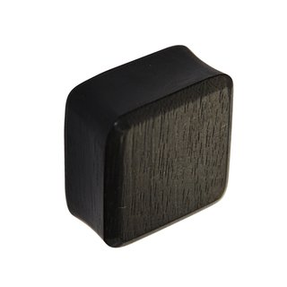 Wood Ear Plug - Square - Ebony Wood