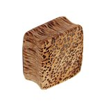 Wood Ear Plug - Square - Palm Wood - Light