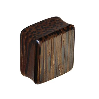 Wood Ear Plug - Square - Palm Wood - Dark