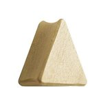 Wood Ear Plug - Triangle - Crocodile Wood